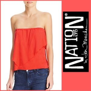 NATION LTD ☀️'Mikah' Tube Top size Medium NWT☀️